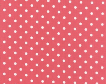 Moda Fabric - Prairie Red withWhite Dots Print by Cory Yoder - Little Miss Shabby for Moda - 29005 26 - Yardage