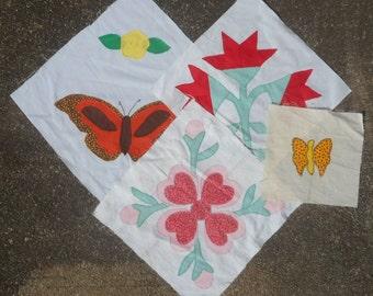 Vintage Quilt Blocks - Appliqued Designs