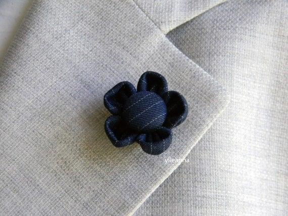 Conosciuto Spilla giacca uomo. Fiore bavero giacca. Boutonniere. Fiore XE56