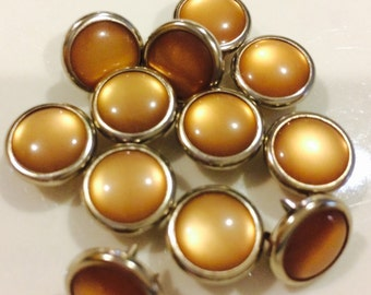 24 Tan Cowgirl Snaps Pearl Prong Western Snaps