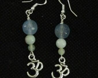 Om mediation earrings