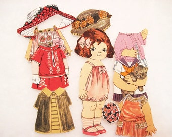 Child's  Fabric Paper Doll playset  travel church toy Original Rare fabric Hannah