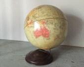 Vintage 1940s industrial Replogle Precision world globe