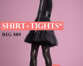 SALE! Save 15% when you purchase a shirt and tights!