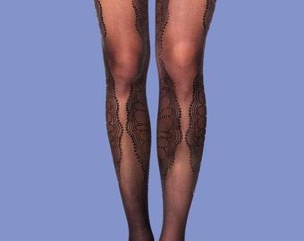Black accessories, La boheme model, available in S-M, L-XL, black on black, corset shape