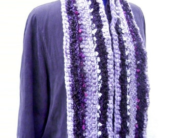 Crocheted Scarf, Art Scarf, Chunky Scarf, Colorful Winter Scarf, Bulky One of A Kind Scarf