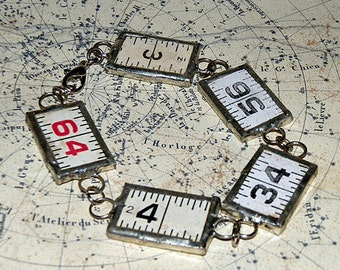 charm bracelet from a vintage ruler,bracelet numbers jewelry, accessories, coolvintage, gorgeous, looks great, unique, 2018