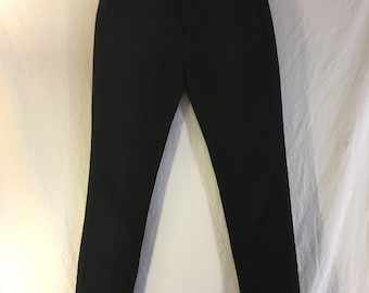 Snake Texture Cropped Trousers