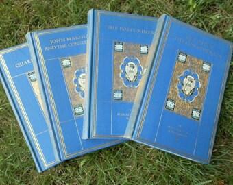 Quartet of Cerulean Blue and Gold History Books  1919 Yale University Press