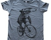 Hammerhead on a Bike - Kids T-Shirt - American Apparel