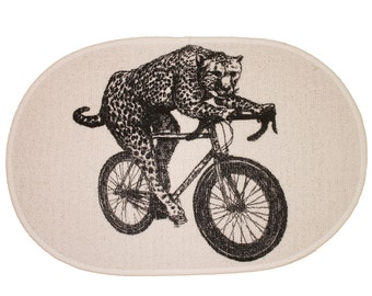 Cheetah on a Bicycle - Rug