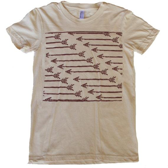 Womens ARROWS Pattern Carving T Shirt - Native American Art - american apparel short sleeved archery tee xs s m l xl xxl