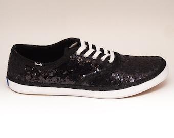 Mens | Sequin | Black Keds Sneaker Canvas Tennis Shoes