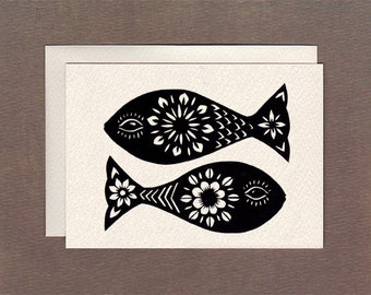 Two Fishes - Notecard