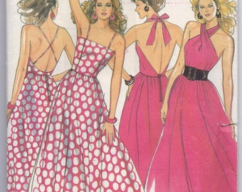 New Look 6382 Sewing Pattern 2 Styles Misses Dress Halter, Straps Misses Size 8-18