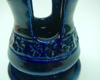 Cobalt Blue Sponge/Cell Phone Holder-ceramic sponge caddy