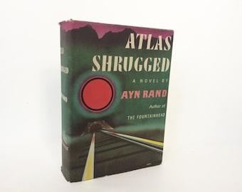 ATLAS SHRUGGED by Ayn Rand. Vintage Hardcover Book.