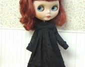Limited--Black Ruffle Dress for Blythe