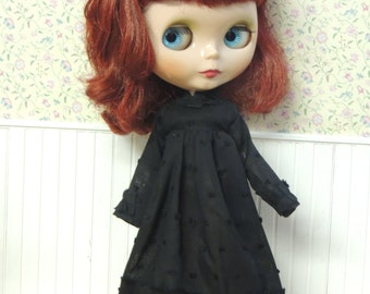 2 Left--Black Ruffle Dress for Blythe