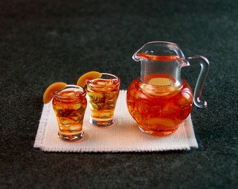 Peach Iced Tea Set (1:12th scale)