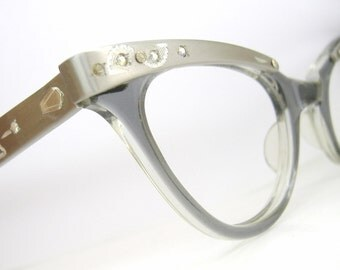 Vintage Translucent Horn Rim Cat Eye Eyeglasses Eye Wear Frame