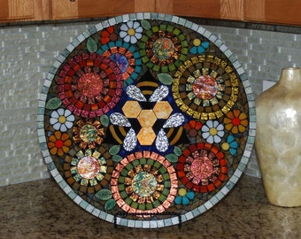 Lazy Susan, Mosaic, Dance of the Bees in the Garden