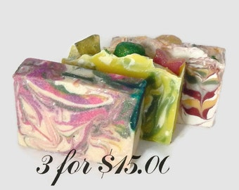 Cold Process Soap Sale - Buy 3 and Save!!  Artisan Soap, cp soap, Handmade Soap, Goat Milk Soap, Bar Soap