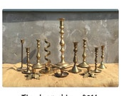 Candlesticks - Brass Candlesticks - Candle Holders - Etched Brass - Bohemian Decor - Wedding Decor - Vintage CHIC