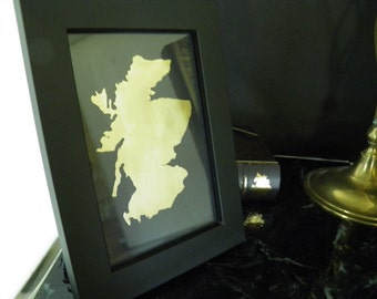 SCOTLAND Framed Art, Scotland Outline , Metal Art, All Countries Available