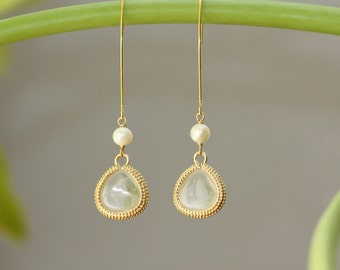Crystal Drops, Gold Marquise Ear Wire, Easter Spring Trend, Birthday Gift for Wife, Bridal Shop, Bridesmaids, Spring Weddings, for Sister
