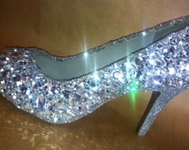 Jeweled sparkly heels!  Any height or style!