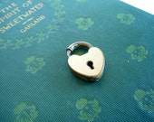 Vintage Heart Bracelet Padlock Clasp Marked Ballou