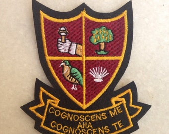 Alan Partridge Blazer Badge Cognoscens me AHA Cognoscens Te, Alan Partridge patch,
