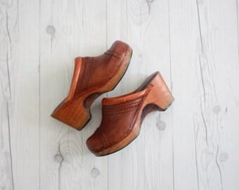 vintage 1970s clogs size 7