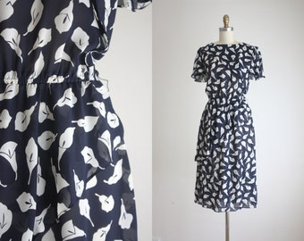 RESERVED. 1970s calla lily dress