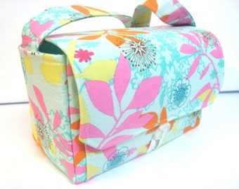 """Large 4"""" Size Coupon Organizer / Budget Organizer Holder Box - Attaches to Your Shopping Cart - Enchanted Floral Forest"""