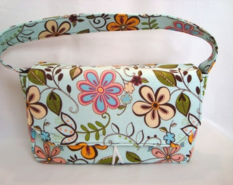 Medium Size Coupon Organizer /Budget Organizer Holder- Attaches to your Shopping Cart- HAPPY FLOWERS