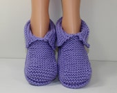 Adult Chunky Slippers knitting pattern by madmonkeyknits - Instant Digital File pdf download knitting pattern