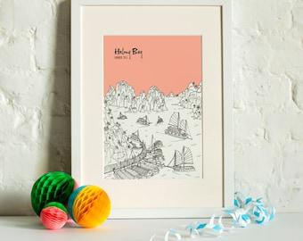 Personalised Halong Bay Print