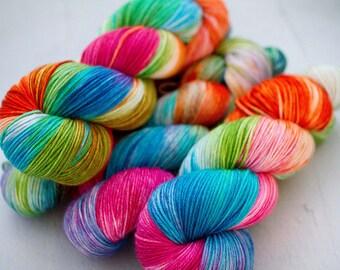 hand dyed yarn sw merino cashmere nylon