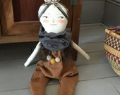RESERVED for Kay Chefis: Custom Angel Winged Doll
