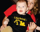 I Dig Being 1 Birthday Construction t-shirt, Excavator party ideas, Birthday Party shirts for boys and girls, Construction party, 1st, 2nd