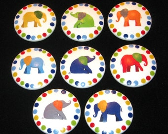 READY To SHiP - Set of 8 - ELEPHANT - 2 Inch Drawer Knobs