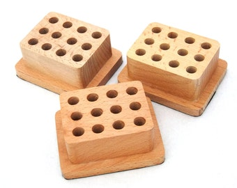 3 Pack Premium Wood StandS For 12 Jewelry Design Stamps  SALE