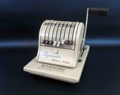 Vintage Paymaster Series 8000 Check Writer / Retro Office Equipment