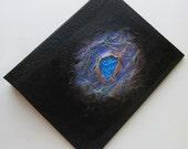 Handmade Refillable Journal Black Sea Jewel 9x7 Original