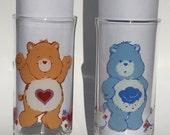 Vintage Care Bear Glasses Pizza Hut Promo 1983 Tenderheart Bear and Grumpy Bear
