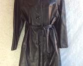 RESERVED Vintage Leather & Fur Coat