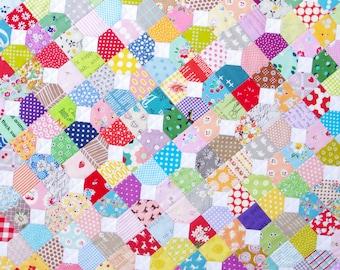 Scrappy Bow Tie Quilt ~ Modern Patchwork Quilt