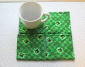 st patricks set of mug rugs